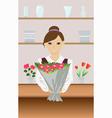 florist vector image