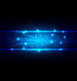 abstract blue light circuit background technology vector image vector image