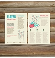 Abstract Brochure Flyer design template social vector image