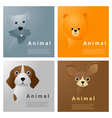 Animal portrait collection with dogs 1 vector image vector image