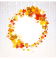 Autumn Wreath of Maple Leaves vector image vector image