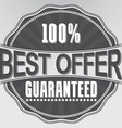 Best offer guaranteed retro label vector image vector image