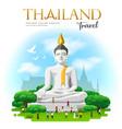 big white buddha suphan buri province thailand vector image vector image
