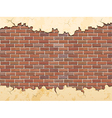 brick wall and cracked concrete vector image vector image