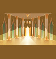 castle hall interior of royal ballroom vector image vector image