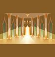 castle hall interior royal ballroom vector image vector image