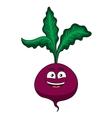 Cheerful happy cartoon beetroot vegetable vector image vector image