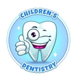Childrens dentistry company logo element vector image
