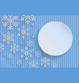 christmas background with decorative snowflake vector image vector image