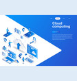 cloud computing modern flat design isometric vector image