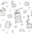 Coffee and dessert seamless pattern Food vector image vector image