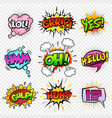 comic sounds set-5 vector image vector image