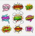 comic sounds set-5 vector image vector image