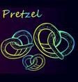 delicious bavarian pretzels vector image