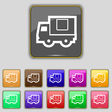 Delivery truck icon sign Set with eleven colored vector image vector image