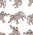 elephants background vector image