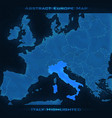 europe abstract map italy vector image