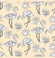 flamingo birds seamless pattern vector image vector image