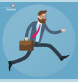 flat design running businessman vector image