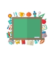 Flat Icons of Blackboard vector image vector image