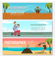 flat photography horizontal banners vector image vector image