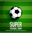 football background with green grass vector image vector image