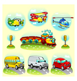 Funny vehicles with background vector image vector image