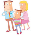 good leader for the family vector image vector image