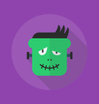 Halloween Flat Icon Frankenstein vector image