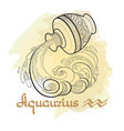 hand drawn line art of decorative zodiac sign vector image vector image
