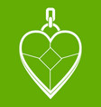 heart shaped pendant icon green vector image vector image