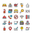 hotel and travel colored icons set 1 vector image vector image