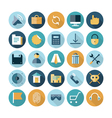 icons flat line ui interface vector image vector image