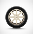 Isolated Car Wheel vector image vector image