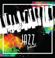 jazz music festival poster background template vector image vector image