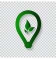 Light bulb eco concept vector image vector image