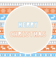 Merry Christmas greeting card26 vector image vector image