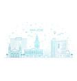 minimal san jose city linear skyline vector image vector image