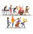 Musicians and Mucical Instruments vector image vector image