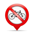 No Bicycle Sign vector image vector image