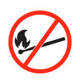 no open flame sign vector image vector image