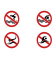 no swimming symbol vector image vector image