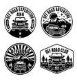 off road and suv car set emblems badges vector image vector image