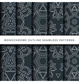 outline abstract seamless pattern set vector image vector image