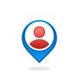 people location GPS destination logo vector image