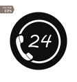 phone icon logo template flat style call vector image