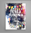 poster design for festa junina invitation vector image vector image