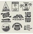 road trip badges vector image