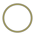 rope frame circle vector image