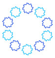 Round wreath of light blue and dark blue